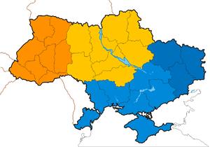 Ukrainian historical regions - Image: Ukraine KIIS Regional division