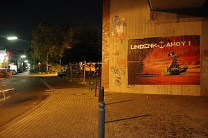 Undenk - Large Undenk paste-up in Cologne-Ehrenfeld