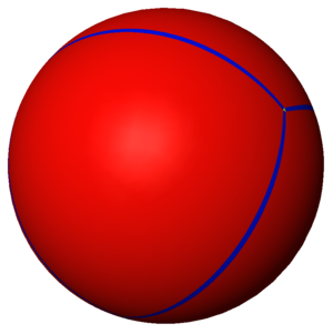 Spherical polyhedron - Image: Uniform tiling 332 t 0 1