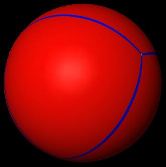 Spherical polyhedron - Image: Uniform tiling 332 t 0 1