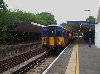 Chessington South railway station - Image: Unit (45)5734 at Chessington South