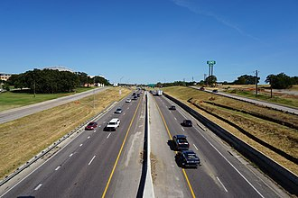 Interstate 35E (Texas) - I-35E in Denton