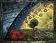 Universum - C. Flammarion, Woodcut, Paris 1888, Coloration: Heikenwaelder Hugo, Wien 1998