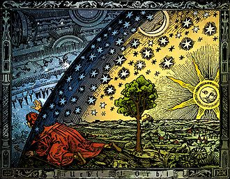 Western esotericism - A colored version of the 1888 Flammarion engraving