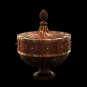 Early Modern Switzerland - The concentration of wealth among the aristocrats allowed art such as this ballot box from Neuchâtel to be created, Musée d'Art et d'Histoire (Neuchâtel)