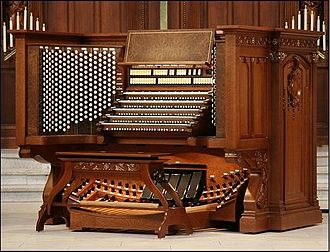 Naval Academy Chapel Organ - The Main Console
