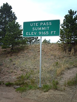 Ute Pass - Image: Ute Pass Sign