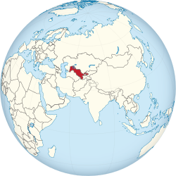 Uzbekistan on the globe (Eurasia centered).svg