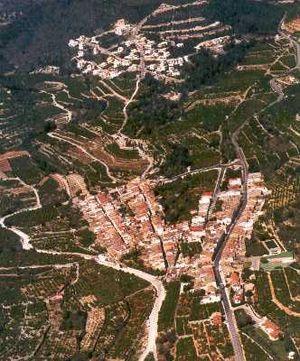 L'Atzúbia - Image: VAérea Absubia