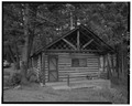 VIEW NORTH - Roosevelt Lodge, Caretaker's Cabin, Tower Junction, Park County, WY HABS WYO,15-TOWJU,1C-1.tif