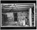VIEW OF BASEMENT INTERIOR - Cato Post Office and General Store, 13806-13810 U.S. Highway 10, Cato, Manitowoc County, WI HABS WIS,36-CATO,1-10.tif