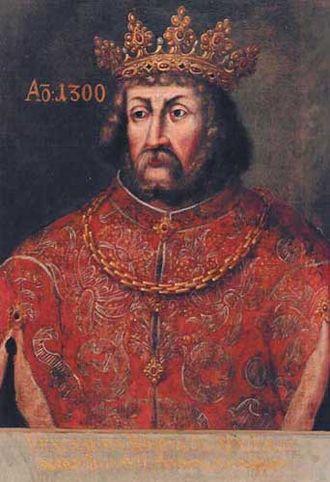 Wenceslaus II of Bohemia - Wenceslaus II in 1300