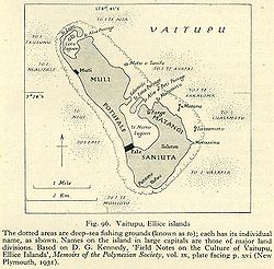 Map of Vaitupu, 1931