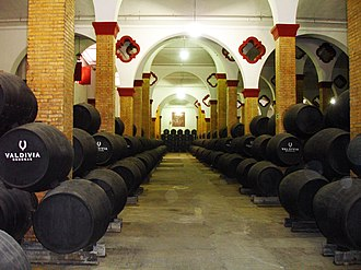 Fortified wine - Sherry barrels aging