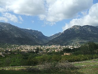 Sóller - Panorama of Sóller from the north