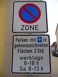 Verkehrsschild Eingeschränktes Halteverbot.JPG