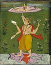 Viṣṇu as Varaha supporting Lakṣmī or Bhudevi on the earth by his tusk..jpg