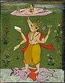 Viṣṇu as Varaha supporting Lakṣmī or Bhudevi on the earth by his tusk..jpg