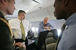 Vice President Cheney Talks with David Addington Aboard Air Force Two (18423443019).jpg