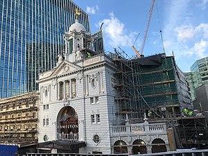 Victoria Palace Theatre - The theatre near the end of its 2016 - 2017 refurbishment
