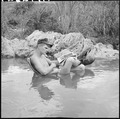 Vietnam....Corporal Bob McDonald, a rifleman with Headquarters, 9th Marine Regiment, takes time out to relax. For... - NARA - 532461.tif