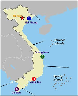 Vietnam Coast Guard - Vietnam Coast Guard regions