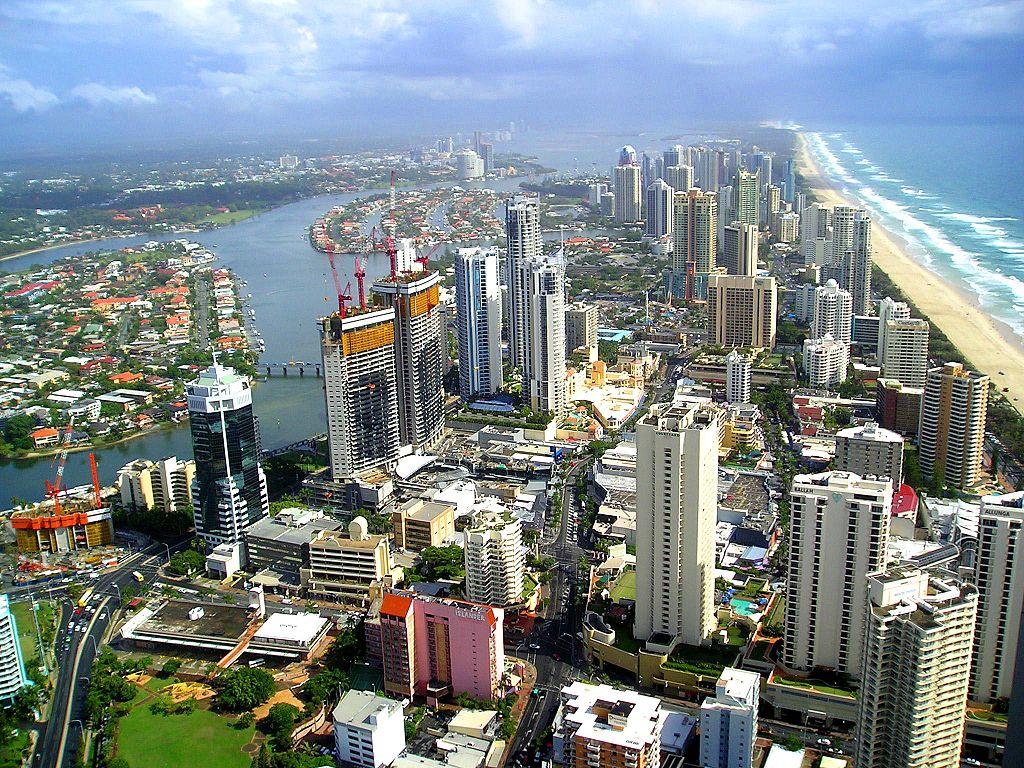 La ville de Gold Coast dans le Queensland (Australie).    (définition réelle 2048×1536)