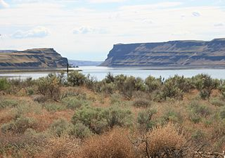 Wallula Gap A large water gap of the Columbia River through basalt anticlines in the U.S. state of Washington