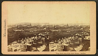 Charles Street (Boston) - Image: View from the top of the state house, Boston, from Robert N. Dennis collection of stereoscopic views 2