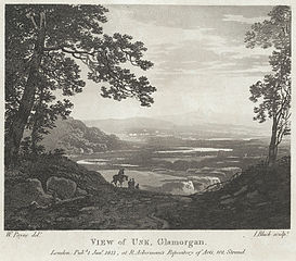 View of Usk, Glamorgan. Monmouthshire