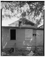 View of rear of house facing west. - 606 South Eighteenth Street (House), Louisville, Jefferson County, KY HABS KY,56-LOUVI,83-5.tif