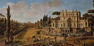 Villa Pigneto del Marchese Sacchetti building in Rome, Italy
