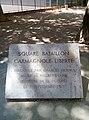 Villeurbanne - Square Bataillon Carmagnole Liberté (plaque).jpg