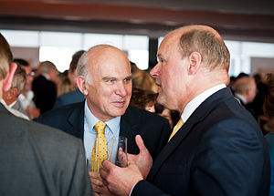 Stephen Hester - Hester (right) with Vince Cable, 2013