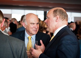 Vince Cable - Cable with former banker and CEO Stephen Hester in 2013