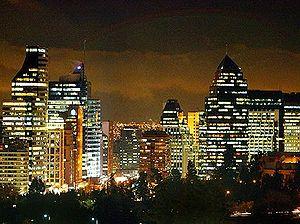 Skyline of Santiago's Financial District
