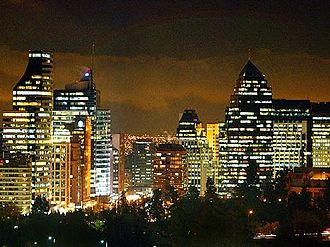 Santiago Province, Chile - The city of Santiago at night