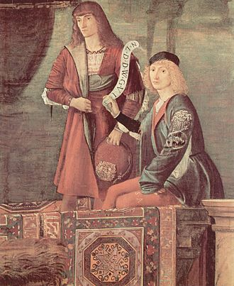 Legend of Saint Ursula - Detail of the Meeting of Ursula and the Prince.
