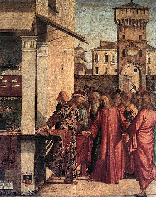 The Calling of Matthew by Vittore Carpaccio, 1502 Vittore carpaccio, vocazione di san matteo.jpg
