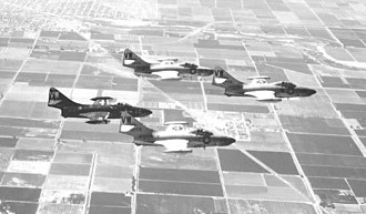 VMFA-314 - Four F-9Fs from VMF(AW)314 in formation.