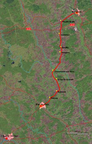Voie Sacrée - Map of Voie Sacrée, France