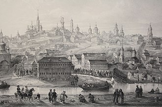 Voronezh - View of Voronezh in the 18th century