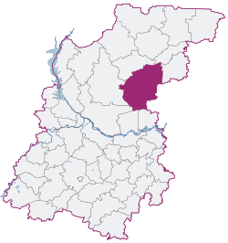 Voskresensky District on map of Nizhny Novgorod Region.svg