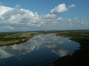 Vyatka River - View of the Vyatka at Kirov