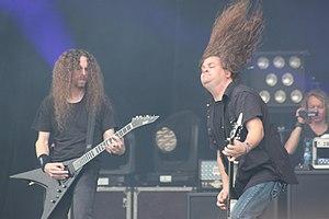 Heathen (band) - Image: W0846 Hellfest 2013 Heaven g 1 Laurie Marlow 66869