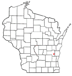 Location of Osceola, Wisconsin