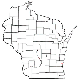 Location of Saukville, Wisconsin