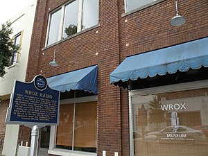 National Register of Historic Places listings in Coahoma County, Mississippi - Image: WROX Building ~ Clarksdale, MS