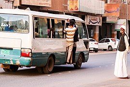 Waiting transportation in Khartoum.jpg