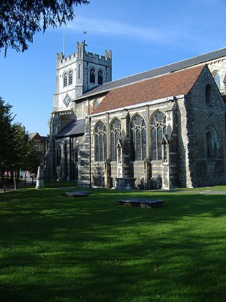 Hugh de Neville - The church at Waltham Abbey, where Hugh de Neville was buried